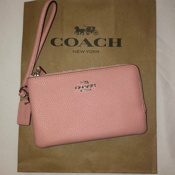 Coach Handbags - NWT COACH Wristlet Wallet *Pink Leather*